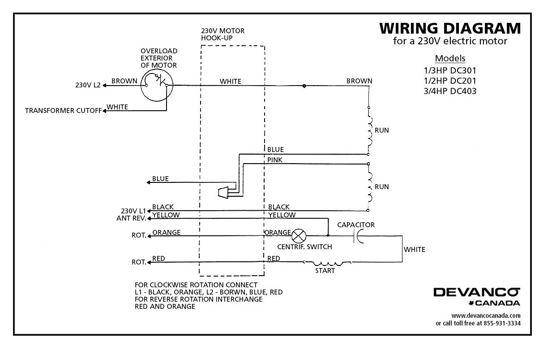 115 230v Motor Wiring Diagram - Wiring Diagram For Light Switch •
