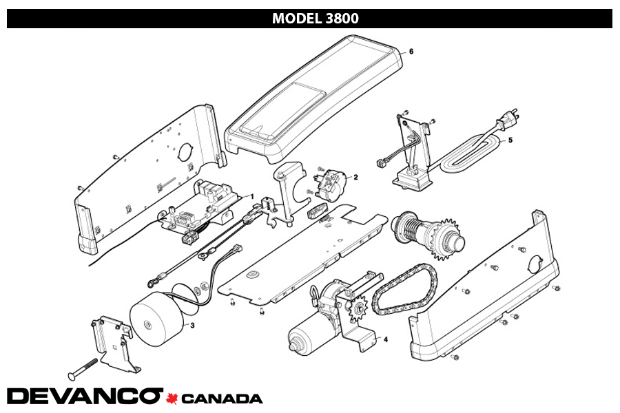 parts diagram for liftmaster 3800p 3800pld residential jackshaft garage door opener liftmaster 3800p 3800pld residential jackshaft