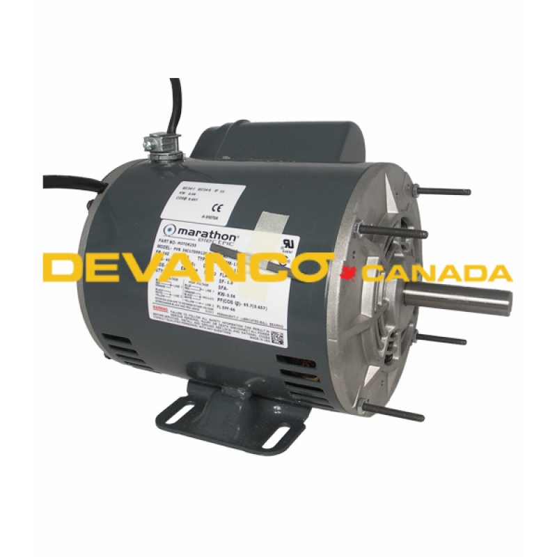Motor255 Wired Manaras Electric Motor 34hp 120240v 1ph Wired