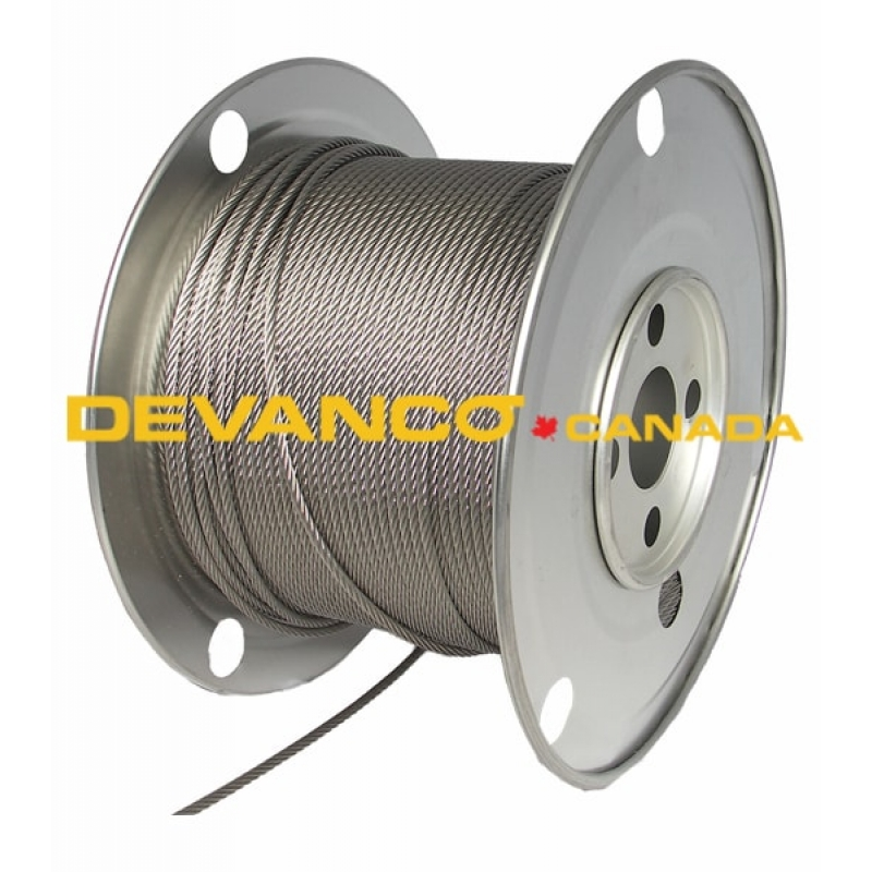 Fcc316 500 Cable 316 Quot 6x19 Galvanized Fiber Core 500ft